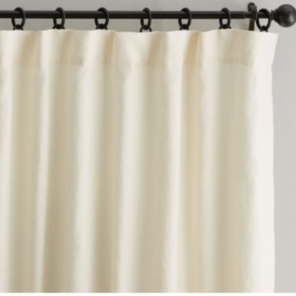 (1)Classic Belgian Linen Rod Pocket Curtain- NWOT